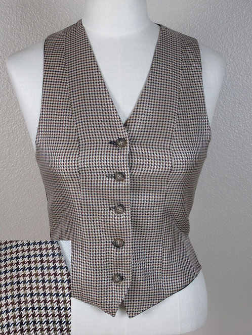 Saddleseat Connection Houndstooth Vest-Ladies 4/6