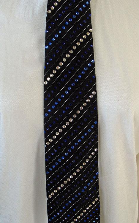 209 Bling Black/Blues Tie