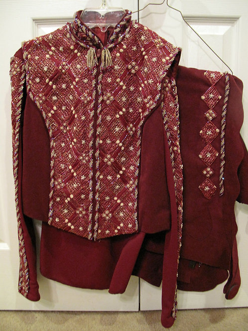 Show Season Burgundy/Gold Outfit