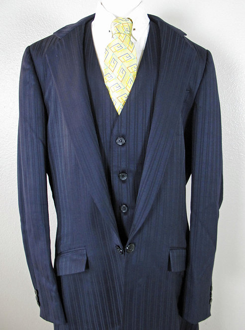 Deregnaucourt Navy Stripe Suit Mens
