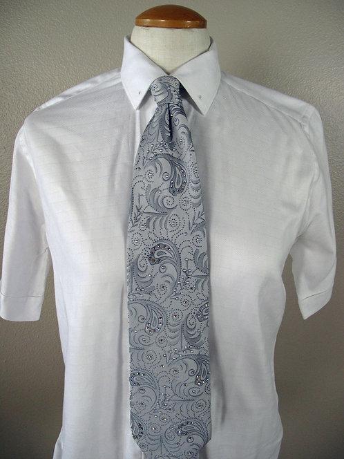 Frierson White Block Pattern Shirts - Ladies 6/8