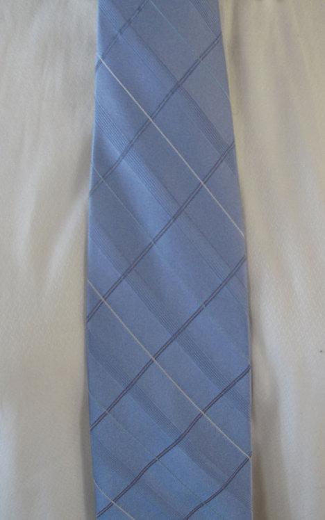 305 DKNY Light blue tone on tone pattern silk