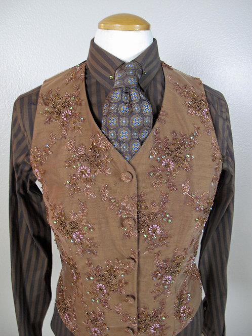 Show Season Med Brown Beaded Set - Ladies 8
