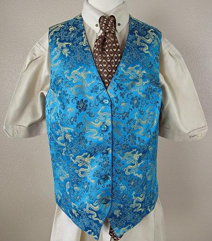 Frierson Aqua Brocade Vest - Ladies 4/6