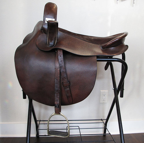 "20.5"" Comal Brown Sidesaddle - suede seat"