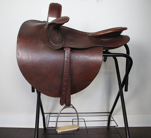 """20"""" Comal Brown Sidesaddle - suede seat"""