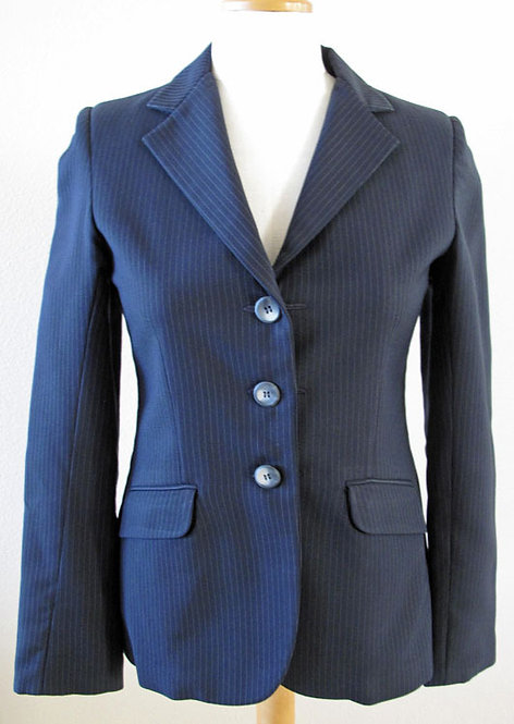 Wool Navy Pinstripe - Youth 12R
