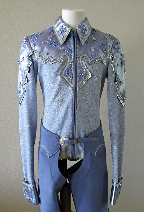Show Season Light Blue Bling Outfit - Youth 12/14