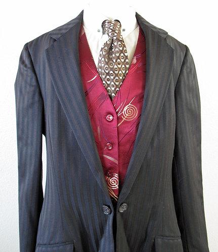 Frierson Burgundy/Gold Pattern Vest - Ladies 4/6