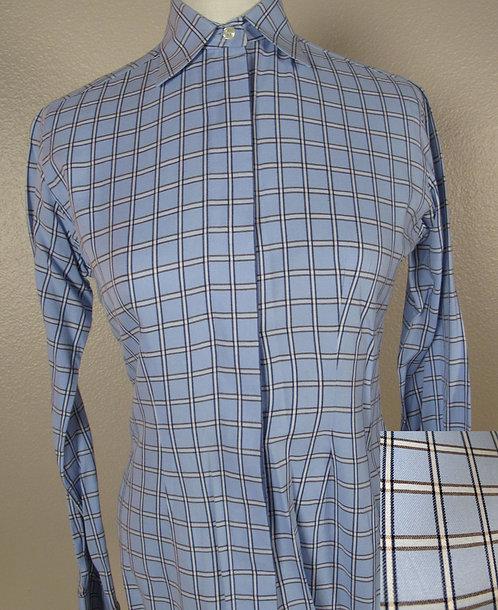 Deregnaucourt Lt Blu/Brn Wndwpn Shirt - Ladies 4