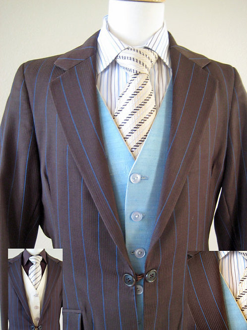 Frierson Outfit Brown-Blue Pinstrp Y12-14