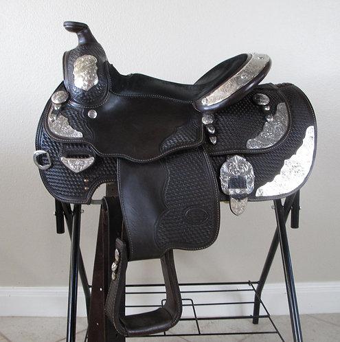"Billy Royal Dark Oil Youth Show Saddle - 14"""