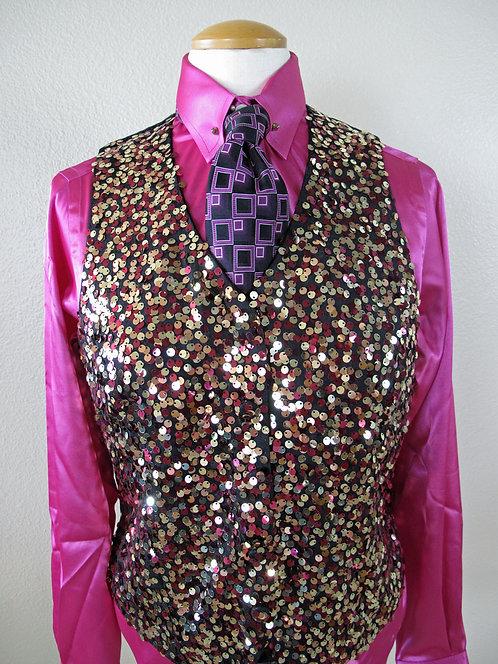 NEW Show Season Satin Shirt/Sequin Vest - 10/12