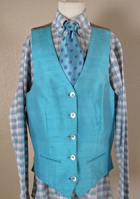 Deregnaucourt Aqua Shirt/Vest/Tie - Youth 14/16
