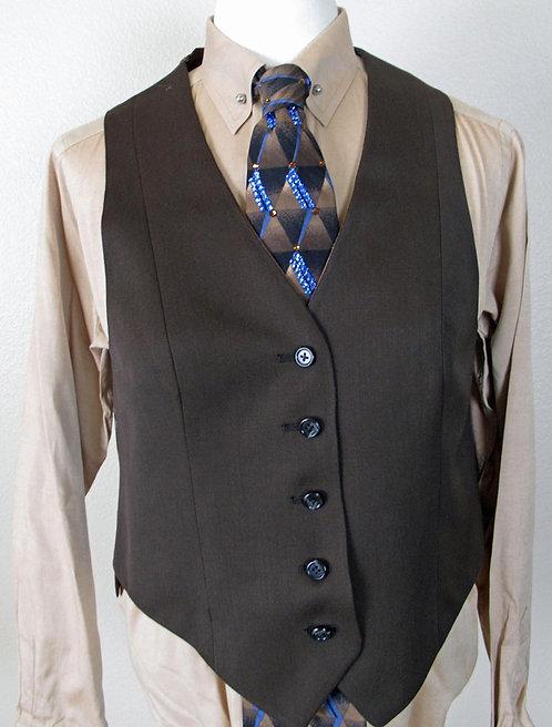 Frierson Dark Brown Vest