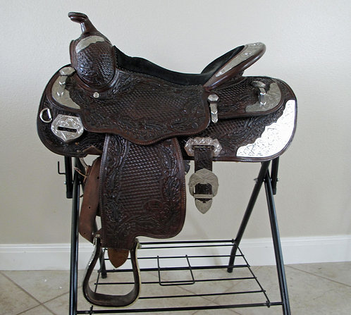 Billy Royal Dark Oil Youth Show Saddle - 14""