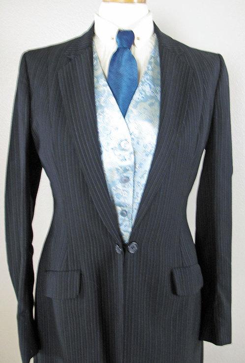 Frierson Black Pinstripe Suit - Ladies 8-10