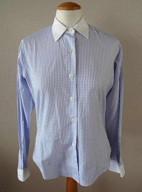 Show Season White/Navy Check Shirt - L8
