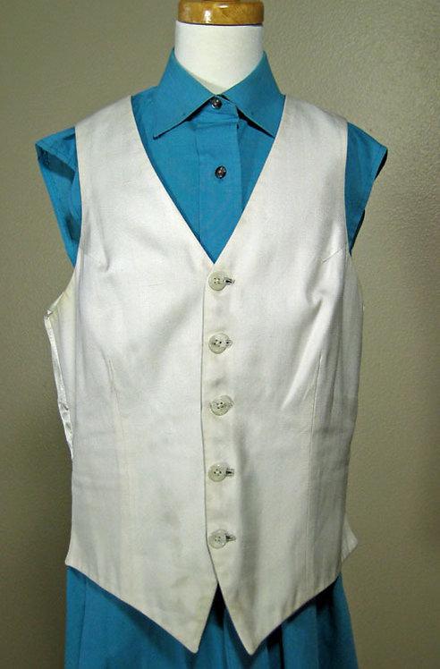 Deregnaucourt Aqua Sleeveless Shirt - Size 12