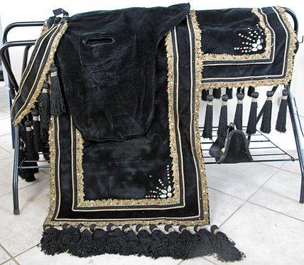 California Arabian Costume - Black/Gold/Red