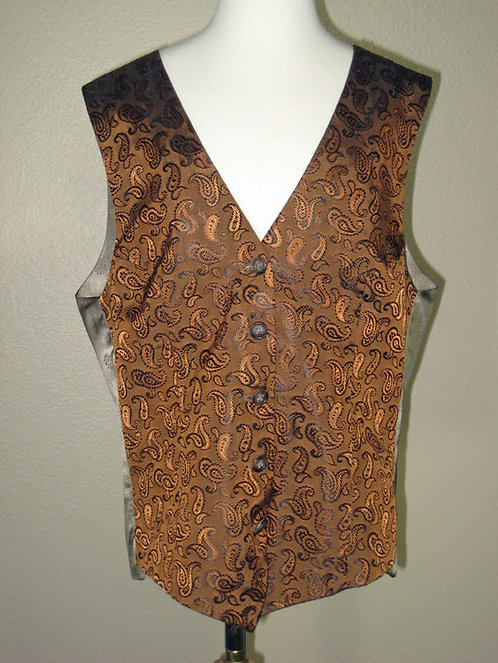 Frierson Copper/Blk Paisley Vest - Ladies 4