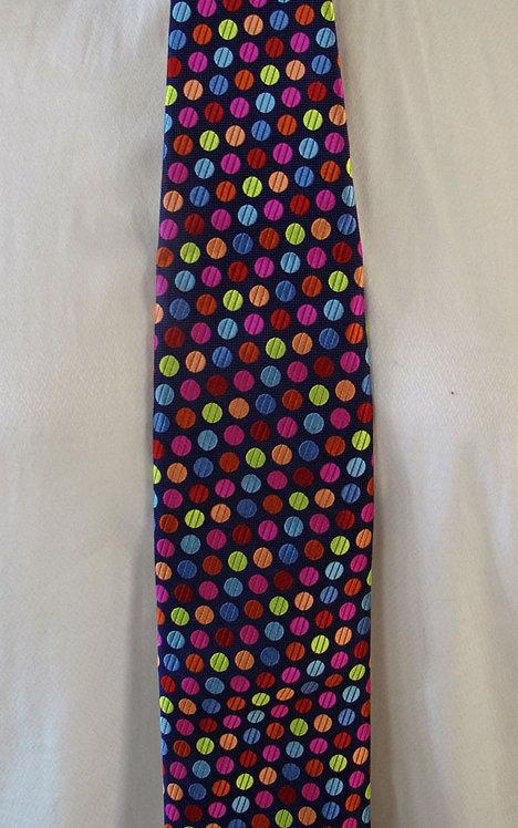 127 Robert Talbott Drk Purple multi polka dot