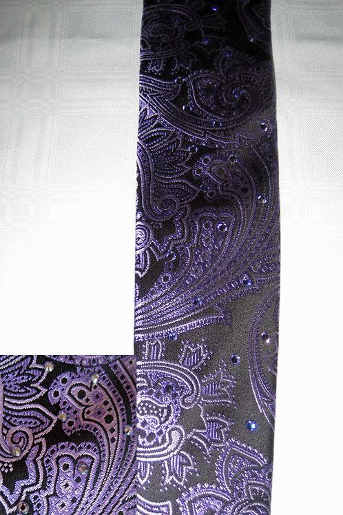 105 Bling Dark Purple Paisley