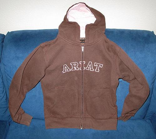 Ariat Brown/Pink Sweatshirt - Youth 10/12