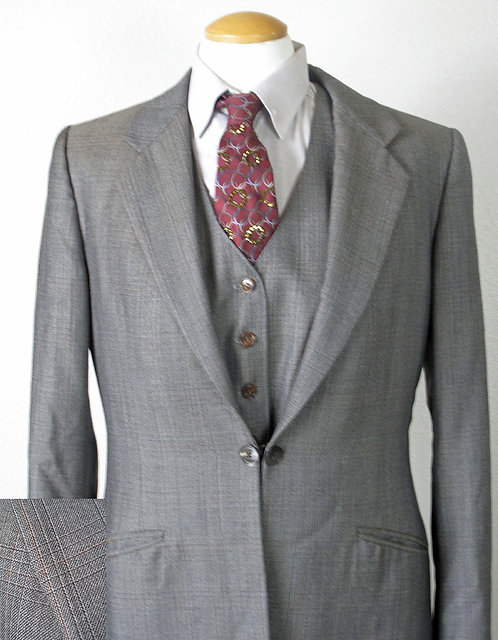 Show Season Suit - Brn/Gry Subtle Plaid Ladies 10