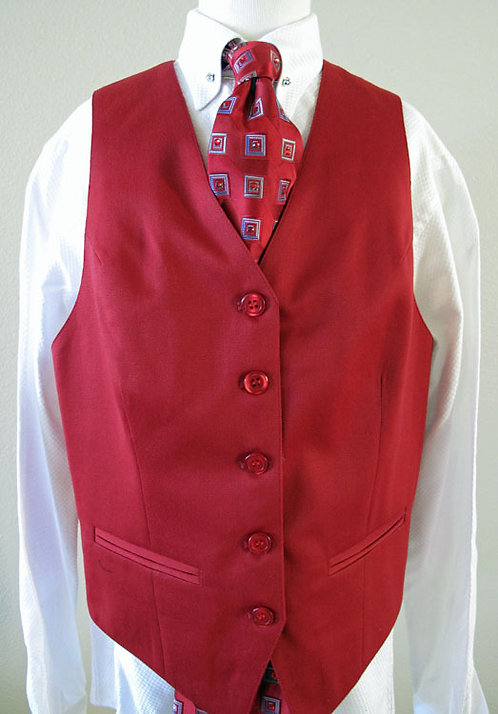 Becker Brothers Red Vest, Size 12-14