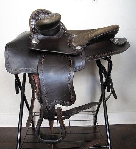 "22"" Steele Western Dark Oil Show Saddle"