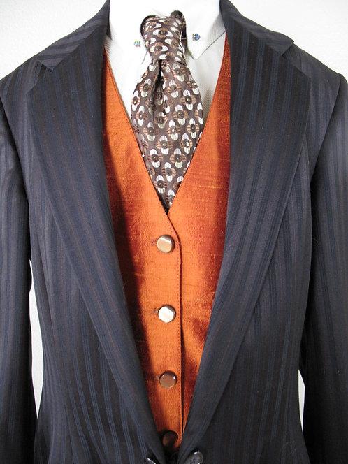 Frierson Orange Silk Vest - Ladies 6