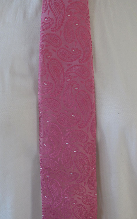 126 Robert Talbott Bright Pink Paisley