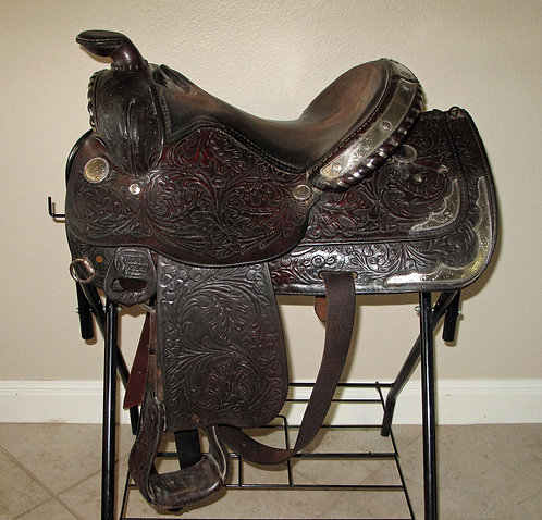 Silver Royal Youth Show Saddle, 14""