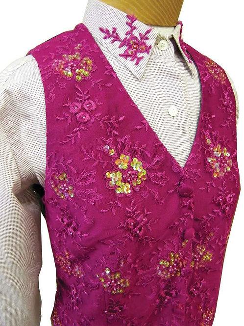 Show Season Fuchsia Beaded Vest Set - Ladies 10/12