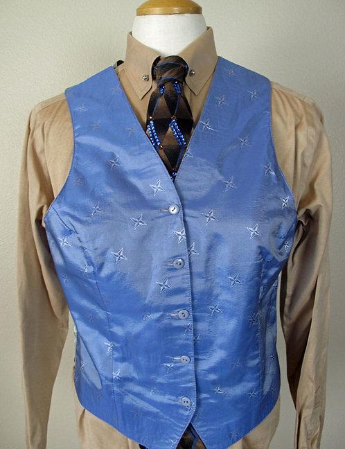 Custom Periwinkle Star Vest - Ladies 10
