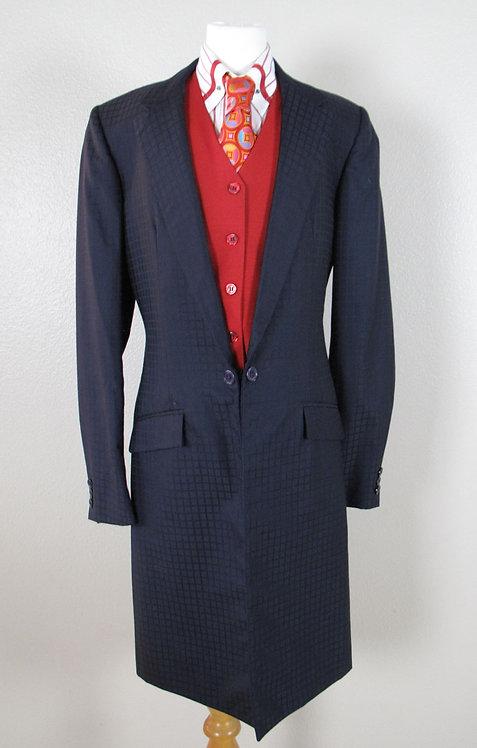Deregnaucourt Navy Square Patrn Suit - L2/4-Y14-16