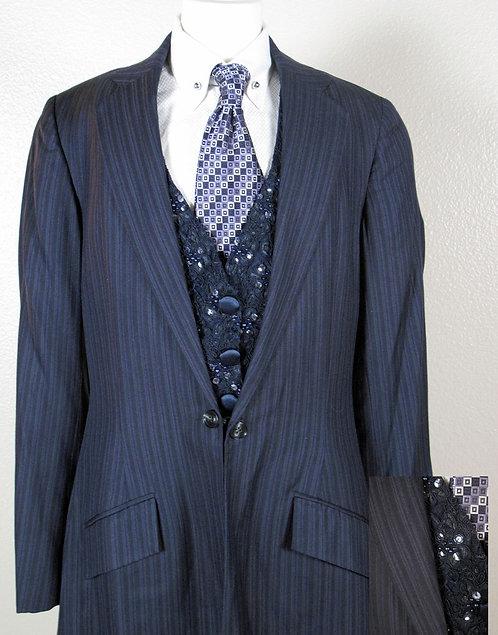 Frierson Navy Suit, Size 2-4