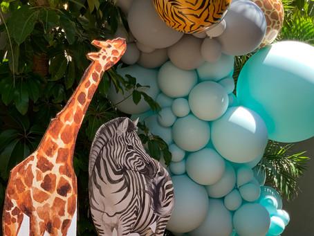 יום הולדת גיל 2. יום הולדת ספארי/ ג'ונגל/ חיות.