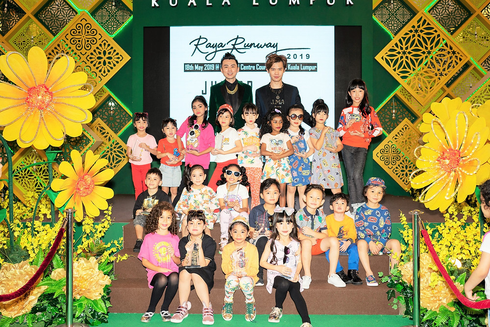 Mr. Brian John Yim and Mr. Matthew Benjamin Yoon with Fashion Kids Model