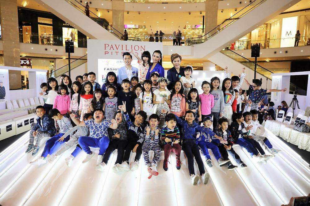 Mr. Brian John Yim, Ms. Amber Chia and Mr. Matthew Benjamin Yoon with all the fashion kids model