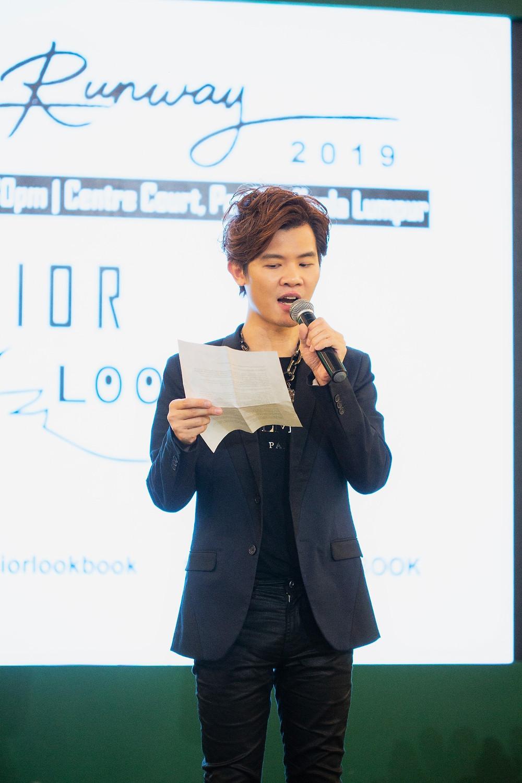 Mr. Matthew Benjamin Yoon appreciation speech after fashion show finale