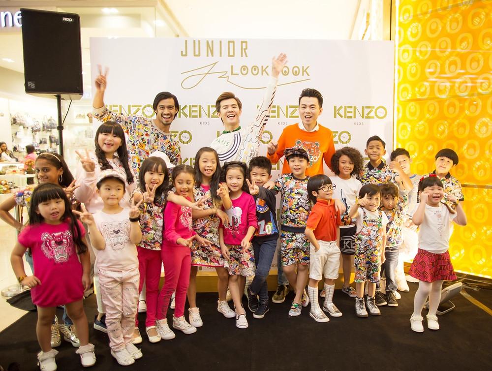 Mr. Matthew Benjamin Yoon, Mr. Brian John Yim and all the fashion kids model in KENZO KIDS
