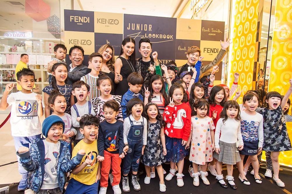 Ms. Amber Chia, Mr. Brian John Yim. Mr. Matthew Benjamin Yoon and all the fashion kids model