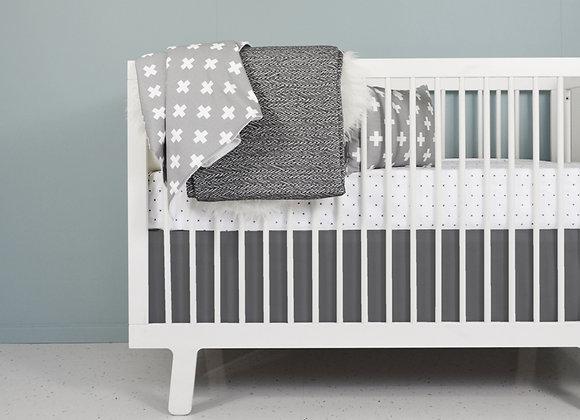 Modern black and white crib bedding