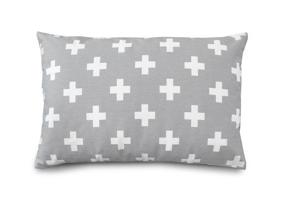 GRAY CROSS PILLOW
