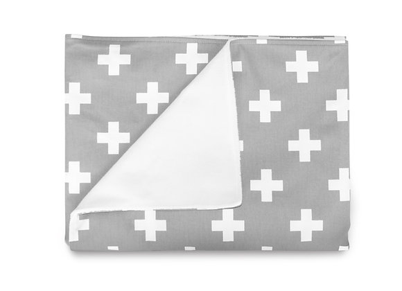 GREY CROSS BLANKET - LARGE NORDIC CROSS