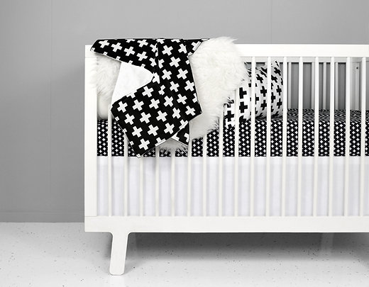 modern elephant crib bedding black cross set baby girl
