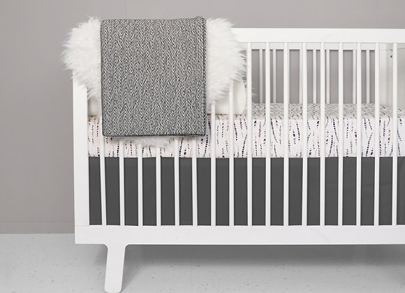 Feather pink blus crib bedding set