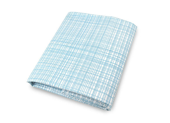 Moden baby blue crib sheet